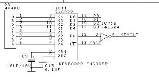 54C922J Keyboard decoder DIP18