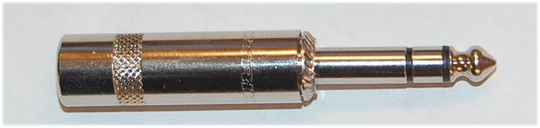 Neurik audio plug, 6.35mm / 1/4