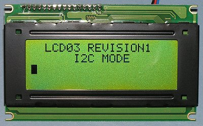 LCD03 I2C interface