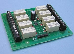 USB controlled 8 relay control USB rly8B